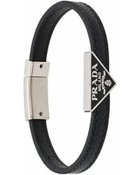Prada Armband mit Logo - Schwarz