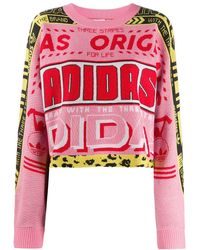 adidas Pink Acrylic Sweater