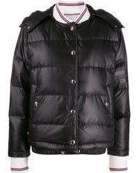Thom Browne Detachable-hood Puffer Jacket - Black
