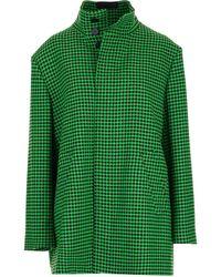 Balenciaga Mantel mit Muster - Grün