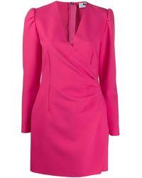 MSGM - Vestito corto a portafoglio - Lyst