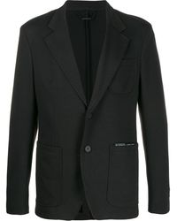 Givenchy Ribbon Trimmed Logo Blazer - Black
