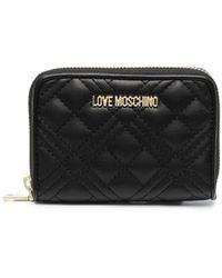 Love Moschino Portemonnaie mit Logo-Schild - Schwarz