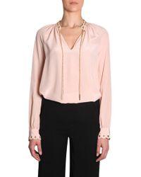 Michael Kors - Pink Silk Blouse - Lyst
