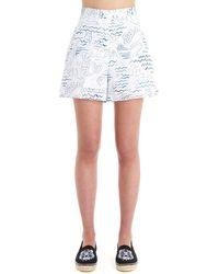 KENZO Shorts fa52sh05057a73 cotone - Bianco