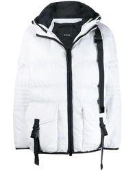 Pinko White Synthetic Fibers Down Jacket
