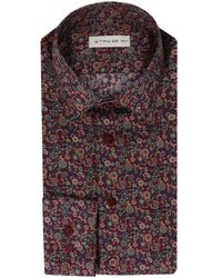 Etro Red Cotton Shirt