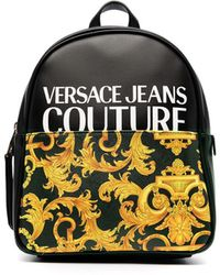 Versace Jeans Couture Barocco-print Backpack - Black