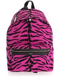 Saint Laurent Pink Fabric Backpack