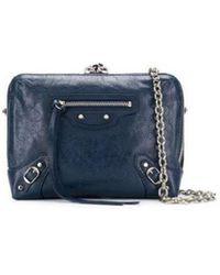 Balenciaga - Blue Leather Shoulder Bag - Lyst
