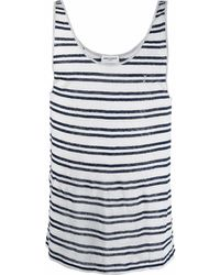 Saint Laurent Trägershirt mit Streifen-Print - Mehrfarbig