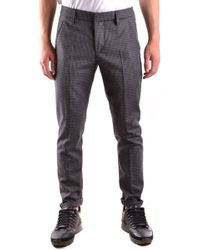 Dondup Grey Wool Trousers - Gray