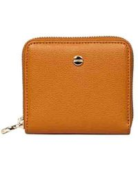 Borbonese Leather Wallet - Brown