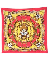 Moschino ANDERE MATERIALIEN FOULARD - Rot