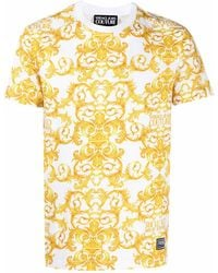 Versace Jeans Couture ANDERE MATERIALIEN T-SHIRT - Mettallic