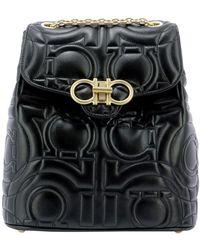 Ferragamo Other Materials Backpack - Black