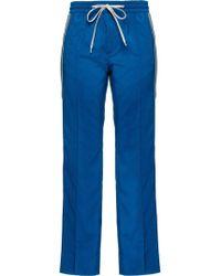 Miu Miu Blue Wool Pants