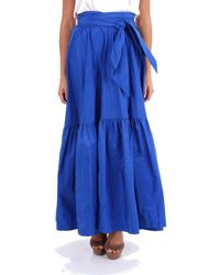P.A.R.O.S.H. Blue Polyester Skirt