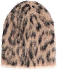 Laneus Animal Pattern Beanie - Brown