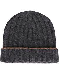 Brunello Cucinelli Cashmere Hat - Grey