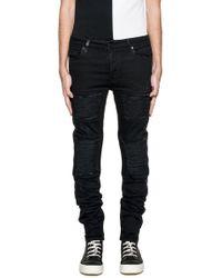 Marcelo Burlon Black Cotton Jeans