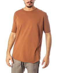 Imperial Beige Cotton T-shirt - Natural