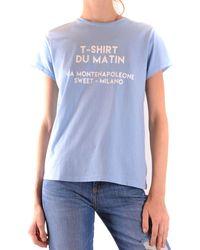 Sweet Matilda Light Blue Cotton T-shirt