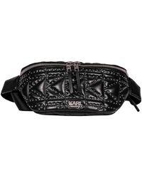 Karl Lagerfeld Black Leather Belt Bag