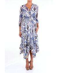 Bazar Deluxe Cotton Dress - Blue