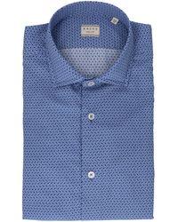Xacus Blue Cotton Shirt