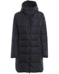 Save The Duck Black Nylon Hooded Padded Coat