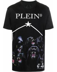 Philipp Plein Cotton T-shirt - Black