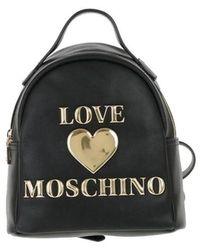 Love Moschino POLYURETHAN RUCKSACK - Schwarz