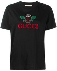 Gucci - Black Cotton T-shirt - Lyst