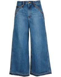 Self-Portrait Blue Cotton Jeans