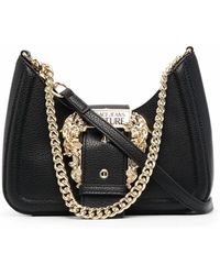 Versace Jeans Couture Oversized-buckle Crossbody Bag - Black