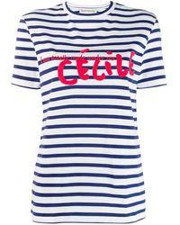 Être Cécile Blue Cotton T-shirt