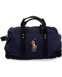 Ralph Lauren Blue Cotton Travel Bag