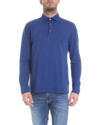 Drumohr Light Blue Cotton Polo Shirt