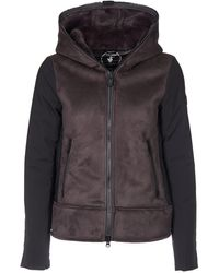 Save The Duck Suede Down Jacket - Grey