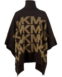 Michael Kors Mf16073csn201 andere materialien poncho - Braun