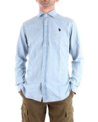 U.S. POLO ASSN. Blue Cotton Shirt