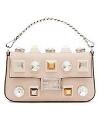 Fendi Beige Leather Handbag - Natural