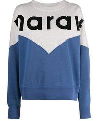 Isabel Marant Sw025520a066e Cotton Sweatshirt - Blue