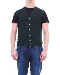 Zanone Cotton Vest - Green