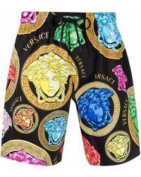 Versace Badeshorts mit Medusa-Print - Schwarz