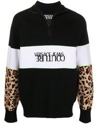Versace Jeans Couture Viscose Sweatshirt - Black