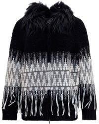 Fabiana Filippi Mad221w123f484vr3 andere materialien sweater - Schwarz