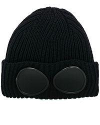 C P Company Blue Wool Hat