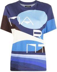Isabel Marant - T-Shirt mit grafischem Print - Lyst